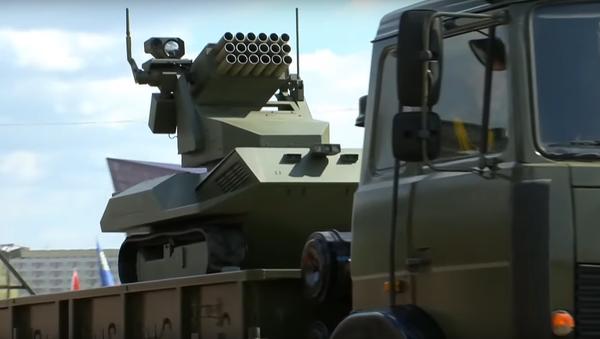 'Vistl' artillery drone. Screenshot from Belarusian television.  - Sputnik International