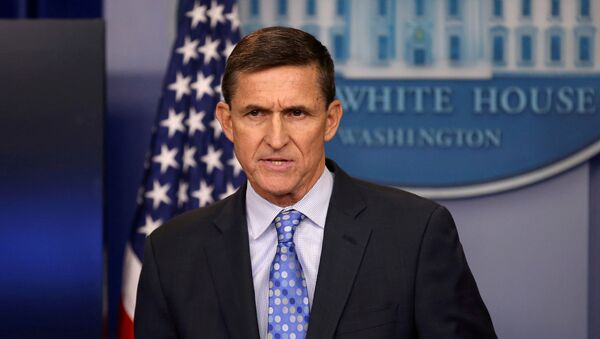 Then national security adviser General Michael Flynn delivers a statement daily briefing at the White House in Washington, U.S., February 1, 2017. Picture taken February 1, 2017 - Sputnik International