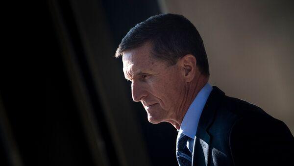 In this file photo taken on December 01, 2017 Gen. Michael Flynn, former national security adviser to US President Donald Trump, leaves Federal Court in Washington, DC - Sputnik International