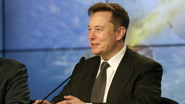 Elon Musk, founder, CEO, and chief engineer/designer of SpaceX speaks during a news conference after a Falcon 9 SpaceX rocket test flight to demonstrate the capsule's emergency escape system at the Kennedy Space Center in Cape Canaveral, Fla., Sunday, Jan. 19, 2020 - Sputnik International