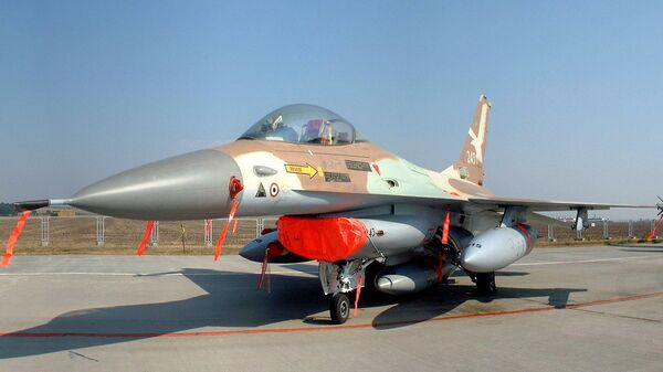 Israeli Air Force F-16A Netz '243', aircraft flown by Colonel Ilan Ramon in Operation Opera. This was the eighth and last to drop its bombs onto the reactor.  - Sputnik International