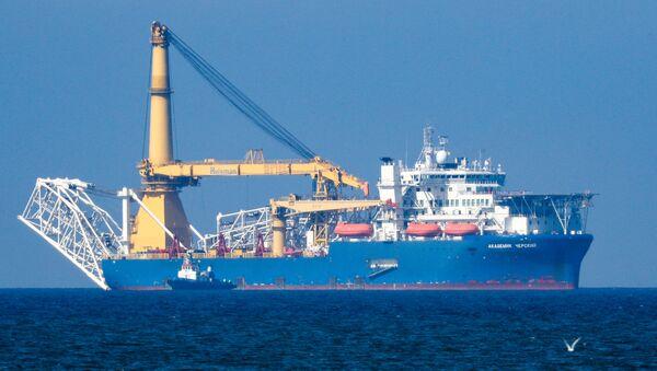 The Russian pipe layer vessel Akademik Cherskiy - Sputnik International