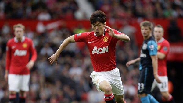 Manchester United's Ji-Sung Park, center, in action against Arsenal  - Sputnik International