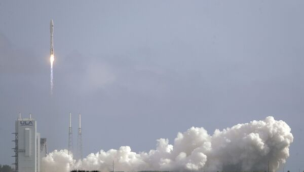 A United Launch Alliance Atlas V rocket lifts off from Launch Complex 41 at the Cape Canaveral Air Force Station, Sunday, May 17, 2020, in Cape Canaveral, Fla. The mission's primary payload is the X-37B spaceplane - Sputnik International