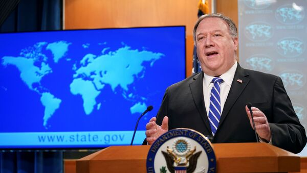 U.S. Secretary of State Mike Pompeo speaks about the coronavirus disease (COVID-19) during a media briefing at the State Department in Washington, U.S., May 6, 2020 - Sputnik International