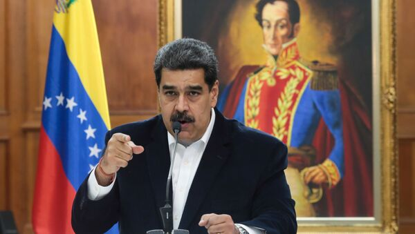Venezuela's President Nicolas Maduro speaks during in a meeting with the Bolivarian armed forces at Miraflores Palace in Caracas, Venezuela, 4 May 2020 - Sputnik International