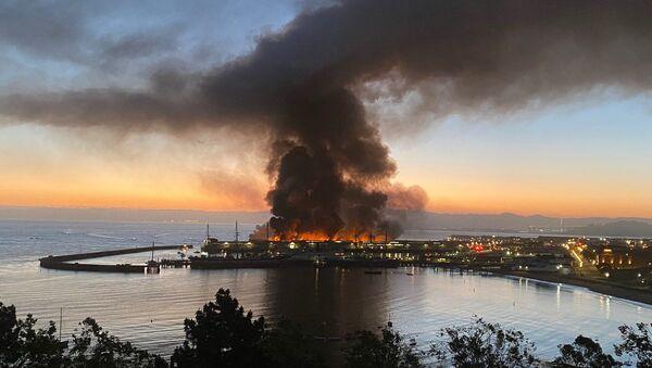 Fire at Shed C warehouse at Fisherman's Wharf, San Francisco, California, US. 23.05.2020. - Sputnik International