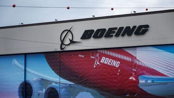 A Boeing logo is seen at the company's facility in Everett, Washington, U.S. January 21, 2020.  - Sputnik International