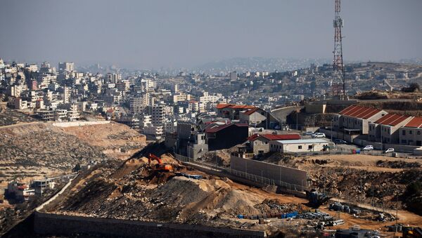 A general view picture shows a construction site in the Israeli settlement of Efrat in the Gush Etzion settlement block in the West Bank. File photo - Sputnik International