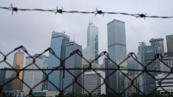 A general view of skyline buildings, in Hong Kong - Sputnik International