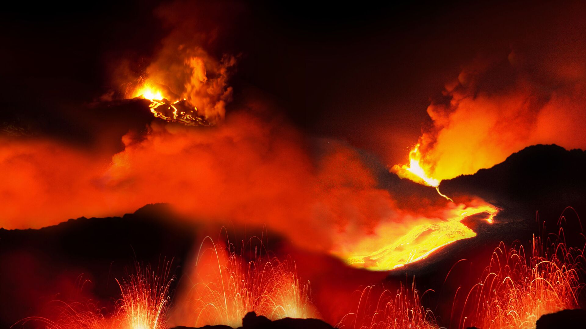 Volcanic eruption - Sputnik International, 1920, 21.09.2021