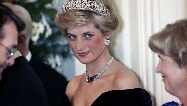 The Princess of Wales is pictured during an evening reception given by the West German President Richard von Weizsacker in honour of the British Royal guests in the Godesberg Redoute in Bonn, Germany on Monday, Nov. 2, 1987 - Sputnik International