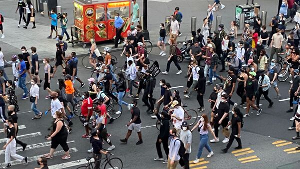 Protesters March in New York Against Death of George Floyd - Sputnik International