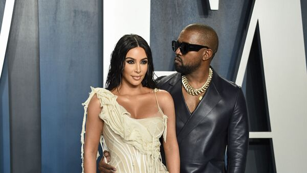 Kim Kardashian West, left, and Kanye West arrive at the Vanity Fair Oscar Party on Sunday, Feb. 9, 2020, in Beverly Hills, Calif - Sputnik International