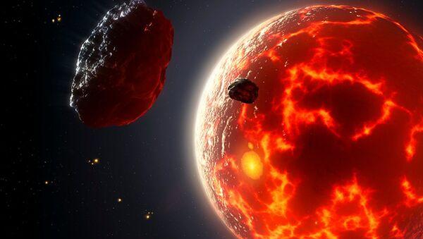 Artist's impression of magma ocean planet. - Sputnik International