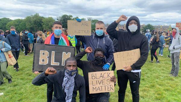 Black Lives Matter Demonstrators, Edinburgh - Sputnik International