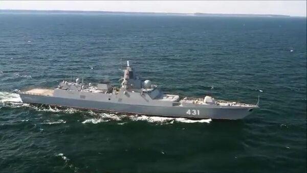 Trials of Admiral Kasatonov frigate in Barents sea - Sputnik International