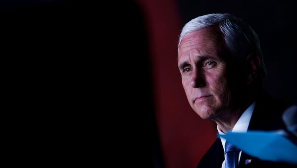 U.S. Vice President Mike Pence looks on during an event with community and faith leaders at Hope Christian Church in Beltsville, Maryland, U.S., June 5, 2020 - Sputnik International