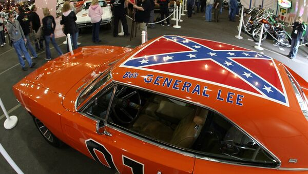 A 1969 Dodge Charger, dubbed The General Lee from the TV series The Dukes of Hazzard, is displayed during the 37th Annual Barrett-Jackson Collector Cars auction in Scottsdale, Arizona, 16 January 2008.  - Sputnik International