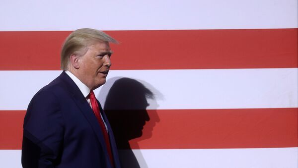 U.S. President Donald Trump arrives for a roundtable discussion with members of the faith community, law enforcement and small business at Gateway Church Dallas Campus in Dallas, Texas, U.S., June 11, 2020. - Sputnik International