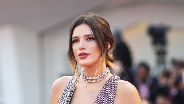 Actress Bella Thorne poses for photographers upon arrival at the premiere of the film 'Joker' at the 76th edition of the Venice Film Festival, Venice, Italy, Saturday, 31 August 2019. - Sputnik International