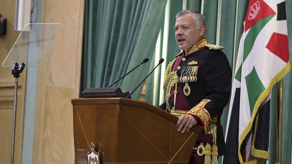 Jordan's King Abdullah II, speaks to Parliament in Amman, Jordan, Sunday, Nov. 10, 2019 - Sputnik International