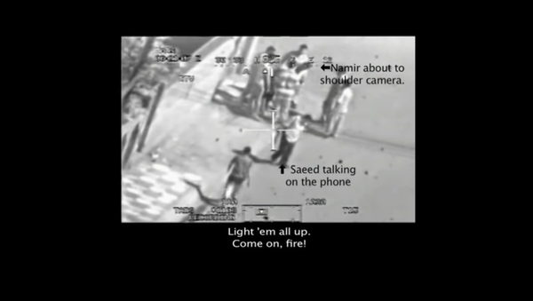 A screenshot from the video Collateral Murder showing the July 12, 2007, attack by US Army helicopters that killed two Reuters journalists and nine Iraqi civilians - Sputnik International