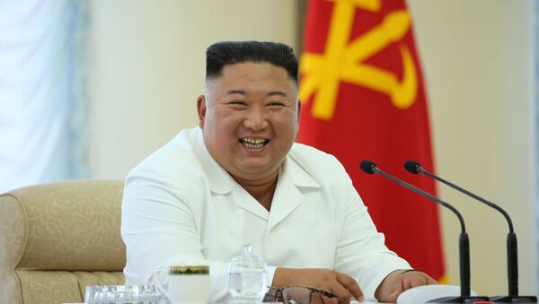 North Korean leader Kim Jong Un takes part in the 13th Political Bureau meeting of the 7th Central Committee of the Workers' Party of Korea (WPK) in this image released June 7, 2020 by North Korea's Korean Central News Agency (KCNA) - Sputnik International