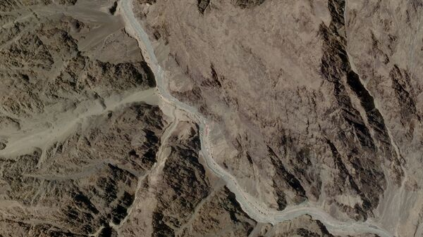 A satellite image taken over Galwan Valley in Ladakh, India, parts of which are contested with China - Sputnik International