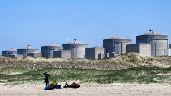 A kite surfer prepares in front of the Gravelines nuclear plant in Gravelines, near Dunkirk, northern France - Sputnik International