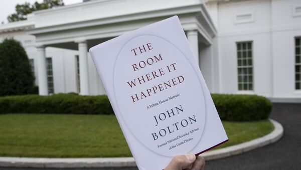 A copy of The Room Where It Happened, by former national security adviser John Bolton, is photographed at the White House, Thursday, June 18, 2020, in Washington - Sputnik International