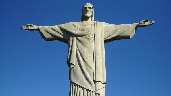 Statue of Christ the Redeemer seen from the Corcovado mountain - Sputnik International