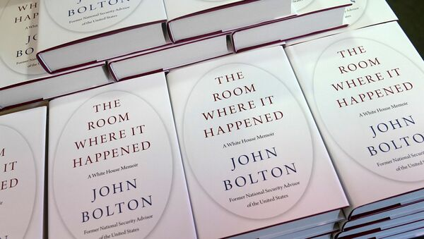 Copies of John Bolton's book 'The Room Where It Happened' are pictured on display at a Barnes and Noble bookstore in the Manhattan borough of New York City, New York, U.S., June 23, 2020.  - Sputnik International