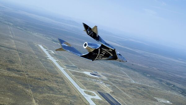 Virgin Galactic's SpaceShipTwo Unity Second Glide Flight over Spaceport America on June 25, 2020 - Sputnik International