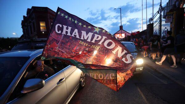 Liverpool fans celebrate winning the Premier League - Liverpool, Britain - June 25, 2020 - Sputnik International