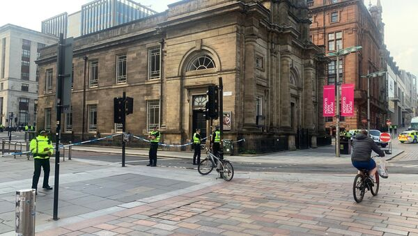 The scene in the centre of Glasgow after the stabbing incident on 26 June 2020. - Sputnik International