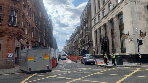 Police Presence on West George Street, Glasgow - Sputnik International