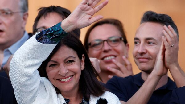 Paris mayor Anne Hidalgo reacts to the results of the second round of the mayoral elections, which were delayed due to the coronavirus disease (COVID-19) outbreak, in Paris, France, June 28, 2020. - Sputnik International