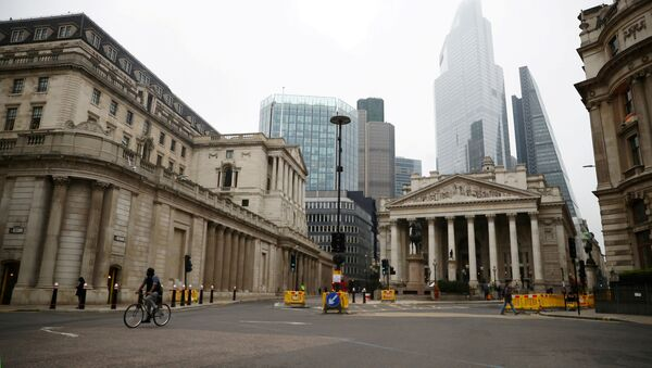 A general view of The Bank of England and the Royal Exchange as the spread of the coronavirus disease (COVID-19) continues, in London, Britain, March 19, 2020 - Sputnik International