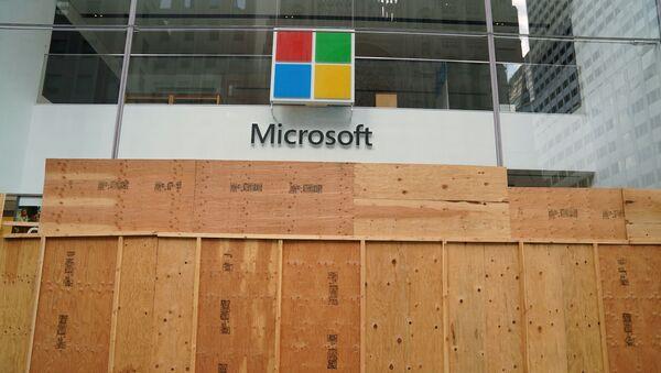 The Microsoft store is pictured in the Manhattan borough of New York City, New York, U.S., June 26, 2020. - Sputnik International
