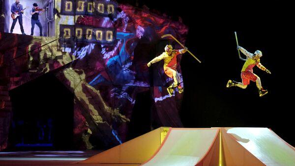 Artists perform during Cirque du Soleil's Crystal show in Riga, Latvia January 15, 2020. - Sputnik International