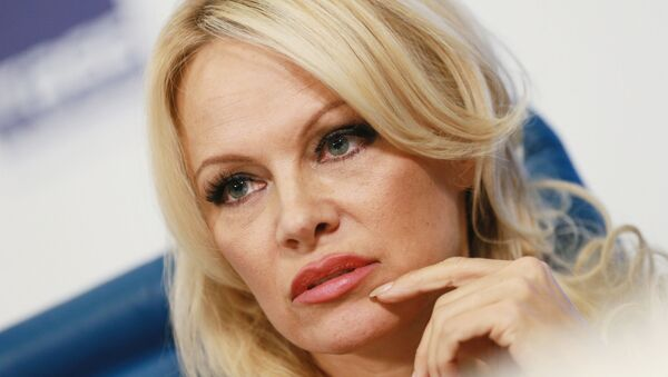 Pamela Anderson, member of the advisory board of the IFAW in Russia, at a press conference on the activities of the fund. - Sputnik International