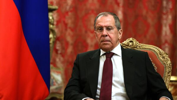 In this handout photo released by Russian Foreign Ministry, Russian Foreign Minister Sergei Lavrov listens to his Venezuelan counterpart Jorge Arreaza during a meeting, in Moscow, Russia. Editorial use only, no archive, no commercial use.  - Sputnik International