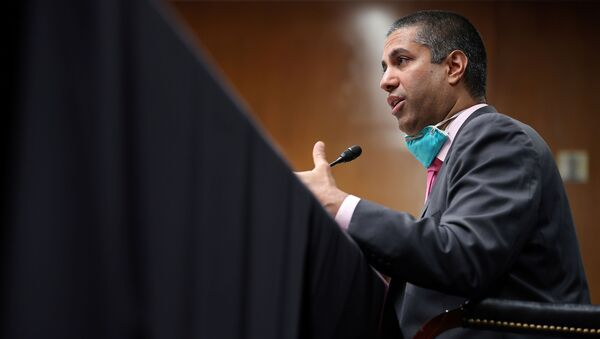 FCC Chairman, Ajit Pai, testifies during a Senate Appropriations Subcommittee hearing on Capitol Hill in Washington, D.C., U.S., June 16, 2020 - Sputnik International