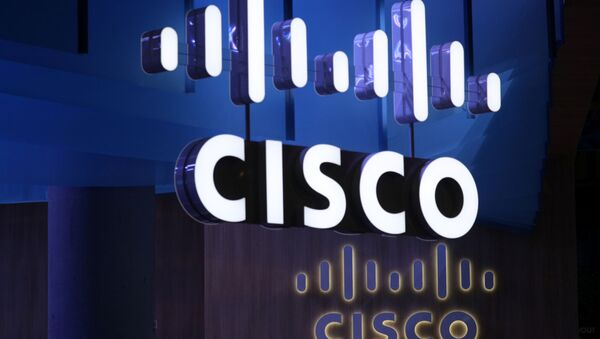 The Cisco logo is seen at their booth at the Mobile World Congress in Barcelona, Spain - Sputnik International