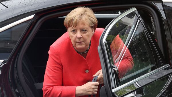 German Chancellor Angela Merkel arrives to attend a session of the lower house of parliament Bundestag, in Berlin, Germany July 1, 2020.  - Sputnik International