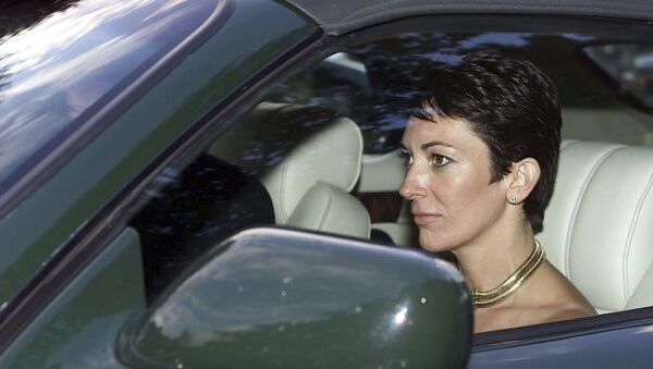 FILE - In this Sept. 2, 2000 file photo, British socialite Ghislaine Maxwell, driven by Britain's Prince Andrew leaves the wedding of a former girlfriend of the prince, Aurelia Cecil, at the Parish Church of St Michael in Compton Chamberlayne near Salisbury, England. The FBI said Thursday July 2, 2020, Ghislaine Maxwell, who was accused by many women of helping procure underage sex partners for Jeffrey Epstein, has been arrested in New Hampshire. - Sputnik International