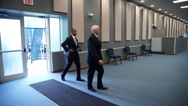 US Vice President Mike Pence arrives for an event with community and faith leaders at Hope Christian Church in Beltsville, Maryland, U.S., June 5, 2020 - Sputnik International