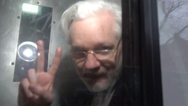 Julian Assange in Serco transport vehicle 13 Jan 2020 No 3 - Sputnik International