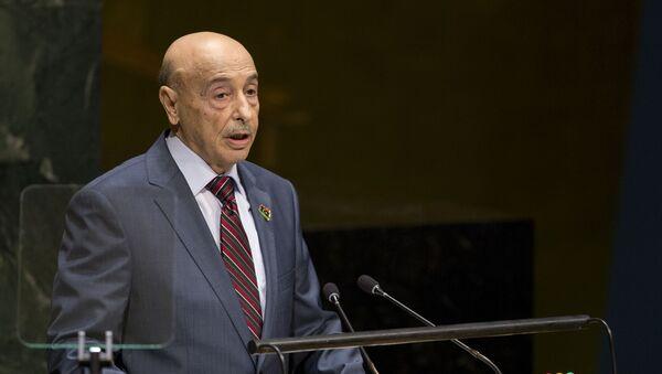 Aguila Saleh Essa Gwaider, President of the House of Representatives, of Libya, addresses the 69th United Nations General Assembly at U.N. headquarters, Saturday, Sept. 27, 2014.  - Sputnik International